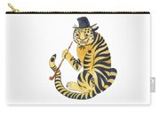 Tiger With Pipe Carry-all Pouch