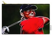 Tiger Woods Carry-all Pouch by Paul Ward