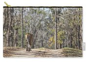 Tigress Walking Along A Track In Sal Forest Pench Tiger Reserve India Carry-all Pouch