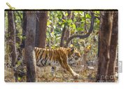 Tigress Walking Through Sal Forest In Pench Tiger Reserve  India Carry-all Pouch