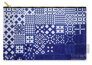 Tile Blue Background Carry-all Pouch by Ariadna De Raadt