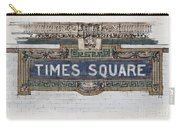 Tile Mosaic Sign, Times Square Subway New York, Handmade Sketch Carry-all Pouch