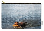 Time To Fetch Carry-all Pouch by Joan  Minchak