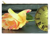 Time To Give A Rose - Yellow And Pink Rose - Clock Face Carry-all Pouch