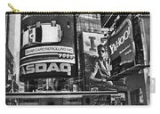 Times Square Black And White Carry-all Pouch