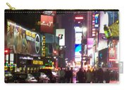 Times Square In The Rain 1 Carry-all Pouch