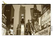 Times Square Ny Overlooking The Square Sepia Carry-all Pouch