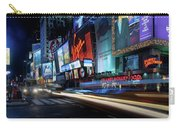 Times Square With Light Trail Carry-all Pouch