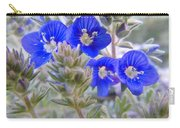 Tiny Blue Floral Carry-all Pouch