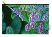 Tiny Blue Flower On A Bush At Pilgrim Place In Claremont-california  Carry-all Pouch