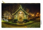 Tiny Chapel With Lighting At Night Carry-all Pouch