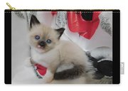Tiny Micro Version Of Red White And Ragdoll Kitty Kitten Baby Cat Silktapestrykittenstm Carry-all Pouch