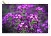 Tiny Purple Flowers Carry-all Pouch