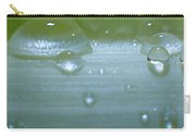 Tiny Water Drops On Stipe Carry-all Pouch