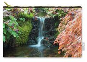 Tiny Waterfall In Japanese  Garden.the Butchart Gardens,victoria.canada. Carry-all Pouch