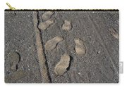 Tire Tracks And Foot Prints Carry-all Pouch