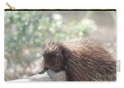 Tired Porcupine On A Fallen Log Carry-all Pouch