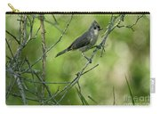 Titmouse In The Brush Carry-all Pouch