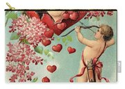 To My Valentine Vintage Romantic Greetings Carry-all Pouch