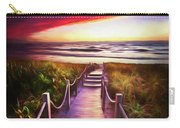 To The Beach Early Morning Watercolor Painting Carry-all Pouch