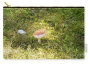 Toadstool Grows On A Forest Floor. Carry-all Pouch