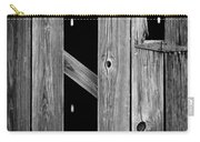 Tobacco Barn Wood Detail Carry-all Pouch