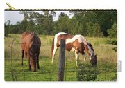 Tobiano And Bay Horses Carry-all Pouch