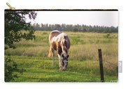Tobiano Horse In Field Carry-all Pouch
