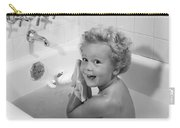 Toddler In Bath, 1950s Carry-all Pouch