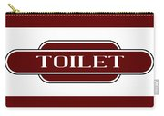 Toilet Station Name Sign Carry-all Pouch