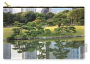 Tokyo Trees Reflection Carry-all Pouch by Carol Groenen