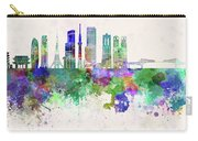 Tokyo V3 Skyline In Watercolor Background Carry-all Pouch