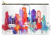Tokyo Watercolor Carry-all Pouch