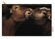 Toned Down Bovine Affection Carry-all Pouch