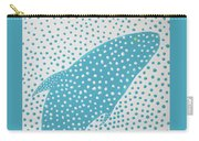Top Of The Dotted Whale Carry-all Pouch by Deborah Boyd