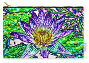 Top View Of A Beautiful Purple Lotus Carry-all Pouch
