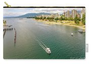 Top View Of English Bay In Summer, Vancouver Bc. Carry-all Pouch