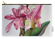 Torch Ginger  Lily Carry-all Pouch by Karin  Dawn Kelshall- Best