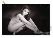 Toriwaits Nude Fine Art Print Photograph In Black And White 5110 Carry-all Pouch
