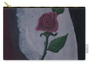 Torn Canvas Rose Carry-all Pouch