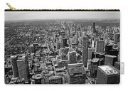 Toronto Ontario Scrapers In Black And White Carry-all Pouch