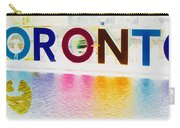 Toronto Sign In Muted Colours Carry-all Pouch