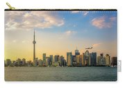 Toronto Skyline At Sunset Carry-all Pouch