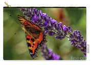 Tortoiseshell Butterfly On Lavender Carry-all Pouch
