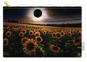 Total Eclipse Over The Sunflower Field Carry-all Pouch
