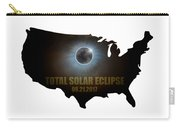 Total Solar Eclipse In United States Map Outline Carry-all Pouch