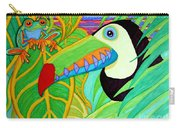 Toucan And Red Eyed Tree Frog Carry-all Pouch
