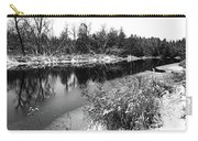 Touch Of Winter Black And White Carry-all Pouch