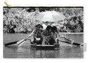 Tourist Boating Thru Tam Coc Bw Carry-all Pouch