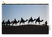 Tourists On Camels Along Top Of Erg Carry-all Pouch